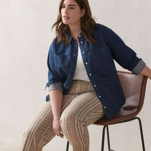 Addition Elle Denim Jean Shirt Cottagecore Western